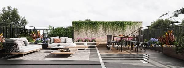 3万以下140平米复式现代简约风格阳光房效果图