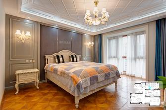 富裕型140平米复式欧式风格卧室装修图片大全
