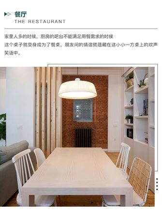 富裕型70平米田园风格餐厅效果图
