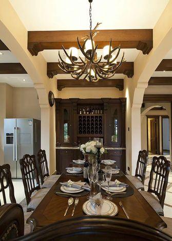 140平米三室一厅欧式风格餐厅图片大全