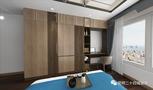130平米三室两厅中式风格书房图片