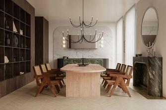 130平米一室两厅轻奢风格餐厅装修效果图