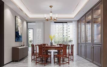 140平米四室两厅中式风格餐厅图