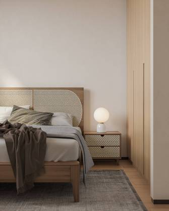 富裕型40平米小户型中式风格卧室装修案例