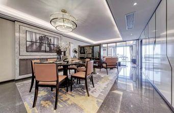 140平米三室一厅轻奢风格餐厅图