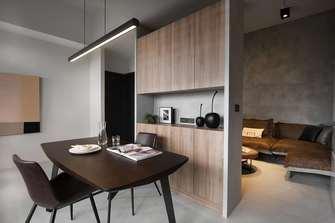 富裕型40平米小户型工业风风格餐厅图片