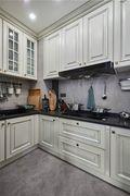 富裕型140平米复式美式风格厨房图片