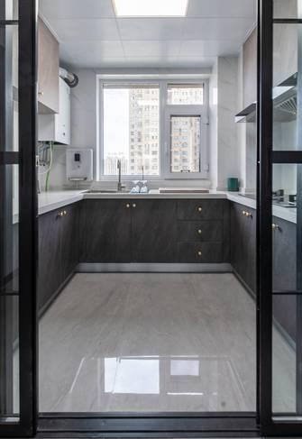 富裕型120平米三室两厅现代简约风格厨房装修图片大全