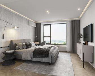 富裕型140平米三室两厅港式风格卧室图片