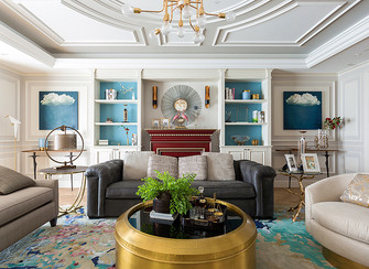 富裕型140平米四欧式风格客厅设计图