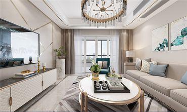 富裕型100平米三室两厅地中海风格客厅图