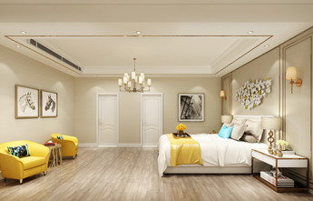 经济型140平米别墅现代简约风格卧室效果图