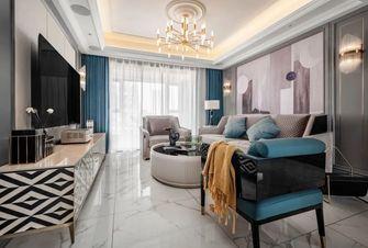 富裕型130平米三室两厅美式风格客厅装修图片大全