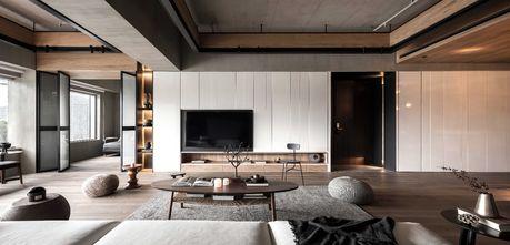 140平米三室三厅工业风风格客厅图片大全