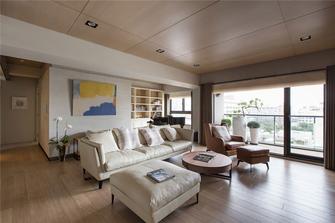 富裕型90平米三室三厅北欧风格客厅装修图片大全