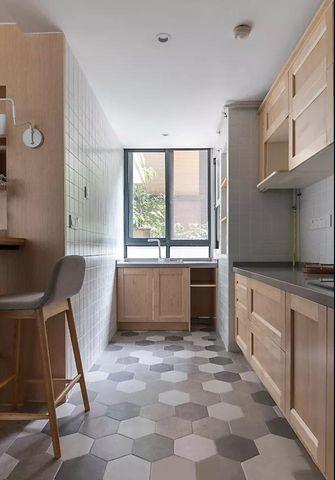 富裕型120平米三室两厅日式风格厨房图