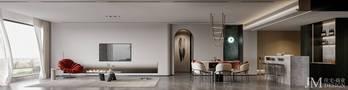 140平米四混搭风格客厅装修案例