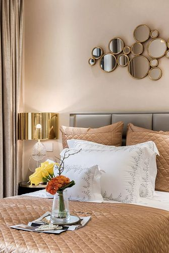 120平米三室两厅欧式风格卧室设计图