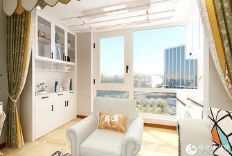 5-10万110平米三室两厅美式风格阳台装修图片大全