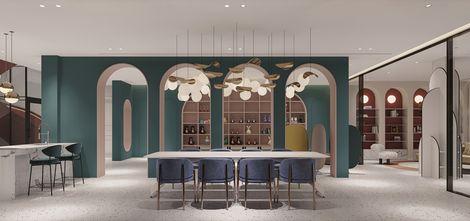 豪华型140平米别墅法式风格餐厅装修案例