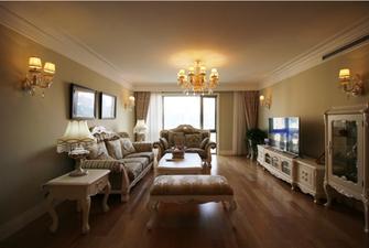 富裕型100平米三室两厅欧式风格客厅装修案例