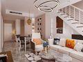 富裕型90平米复式现代简约风格客厅设计图