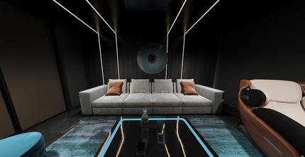140平米别墅轻奢风格客厅装修效果图