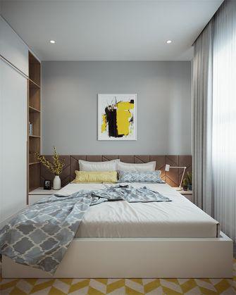 富裕型110平米三室一厅现代简约风格卧室图片