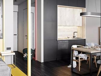 富裕型90平米一室一厅混搭风格客厅图片大全