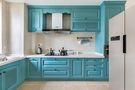 富裕型110平米三室一厅田园风格厨房效果图