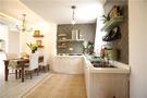 140平米三田园风格厨房设计图