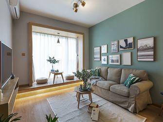 富裕型70平米一室一厅北欧风格客厅装修图片大全