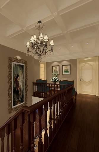 140平米复式欧式风格楼梯间设计图