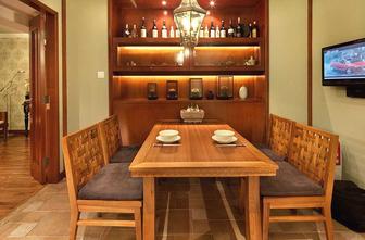 富裕型120平米三室两厅东南亚风格餐厅设计图
