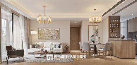 90平米三新古典风格客厅图片大全