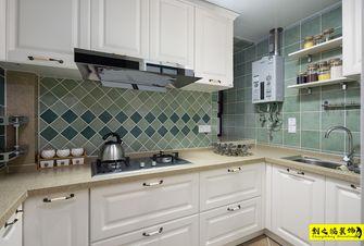 经济型80平米三室两厅美式风格厨房图
