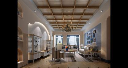 3万以下130平米三室三厅田园风格客厅装修图片大全