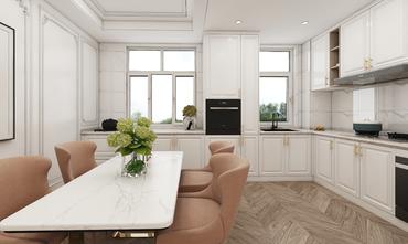 140平米四室两厅美式风格厨房图片