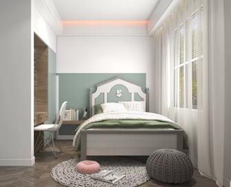 15-20万80平米三室一厅现代简约风格卧室装修案例