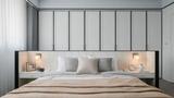 80平米三港式风格卧室装修效果图