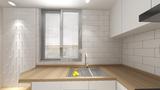 10-15万50平米公寓日式风格厨房装修案例