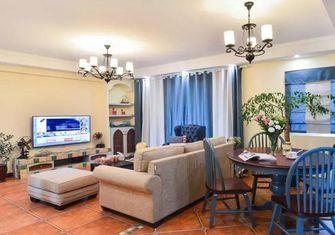 富裕型100平米三室两厅地中海风格客厅装修案例