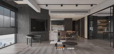 130平米四室两厅工业风风格客厅图片