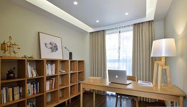 富裕型70平米三室一厅日式风格书房图