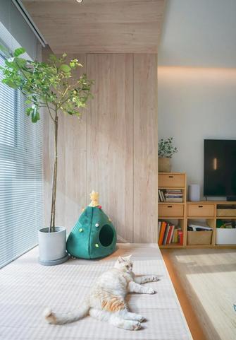 经济型100平米三室两厅日式风格阳台图