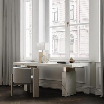 140平米法式风格书房欣赏图