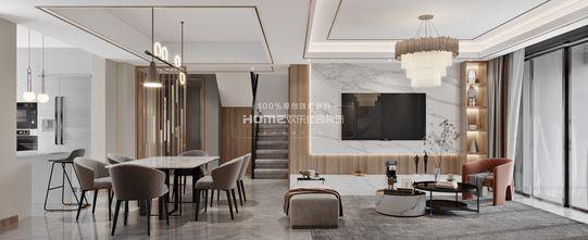 140平米四室三厅轻奢风格餐厅欣赏图