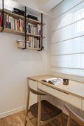 经济型110平米三室两厅北欧风格书房装修图片大全