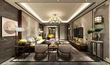 140平米四室一厅中式风格客厅图片大全
