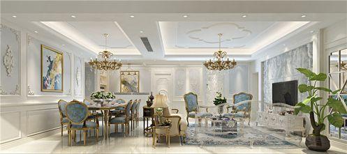 富裕型140平米四室一厅法式风格客厅图片